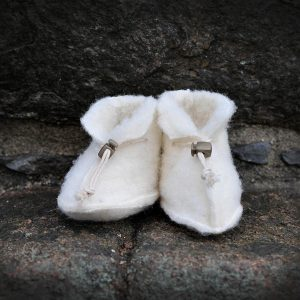 Ulltøfler baby hvit