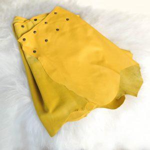 Lammeskinn skjørt, gul.